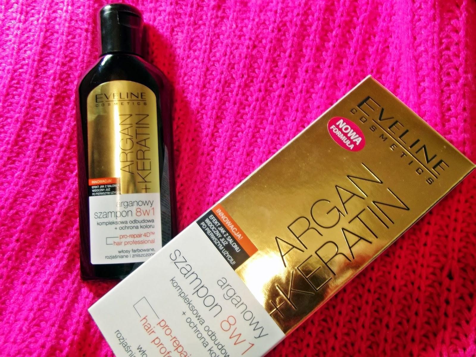 Eveline, Argan + Keratin, Arganowy szampon do włosów 8 w 1