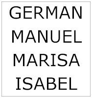 Germán, Manuel, Marisa e Isabel son grandes amigos desde que iban al colegio