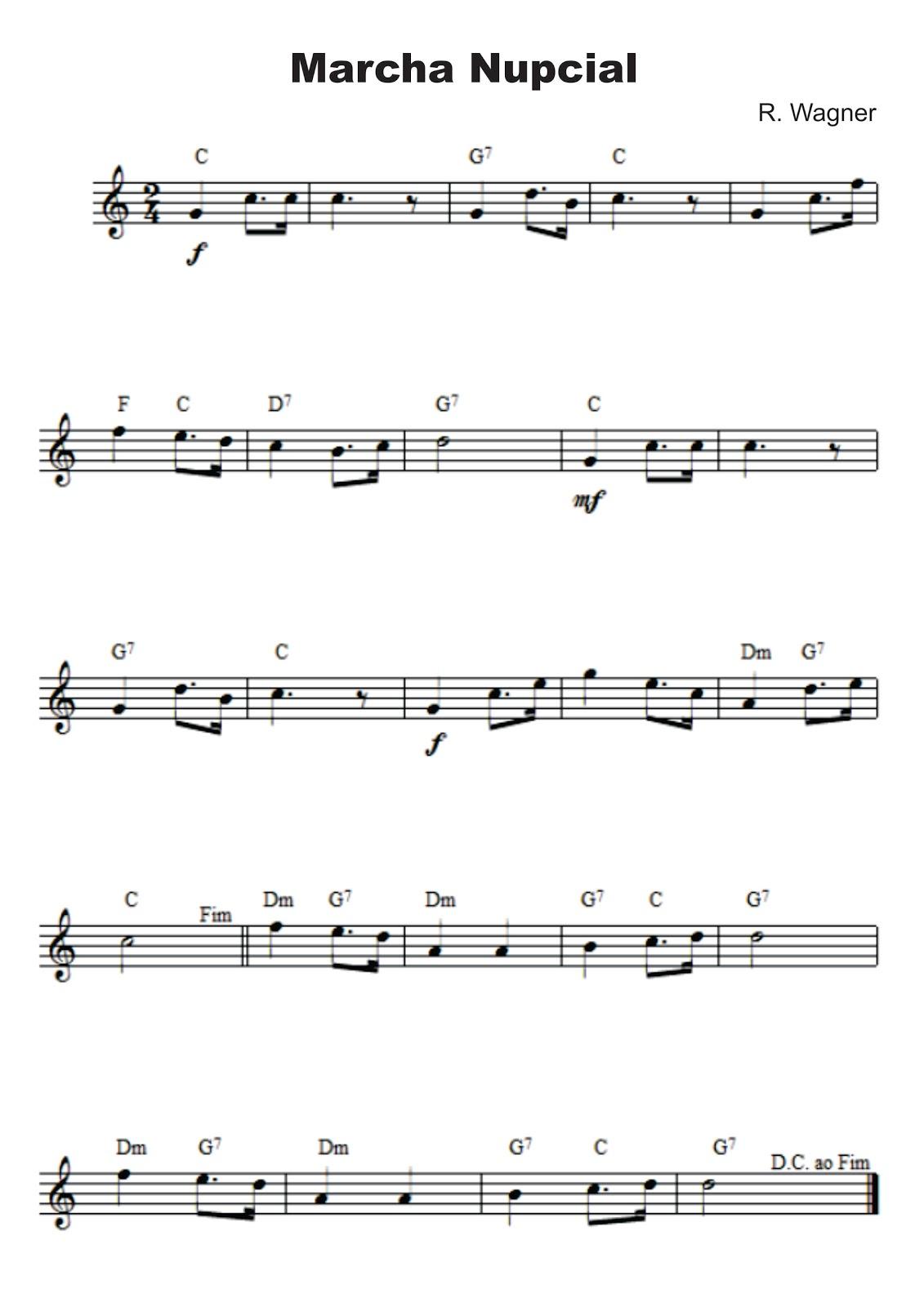 descargar gratis partitura marcha nupcial wagner