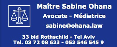 Votre avocate en Israël...
