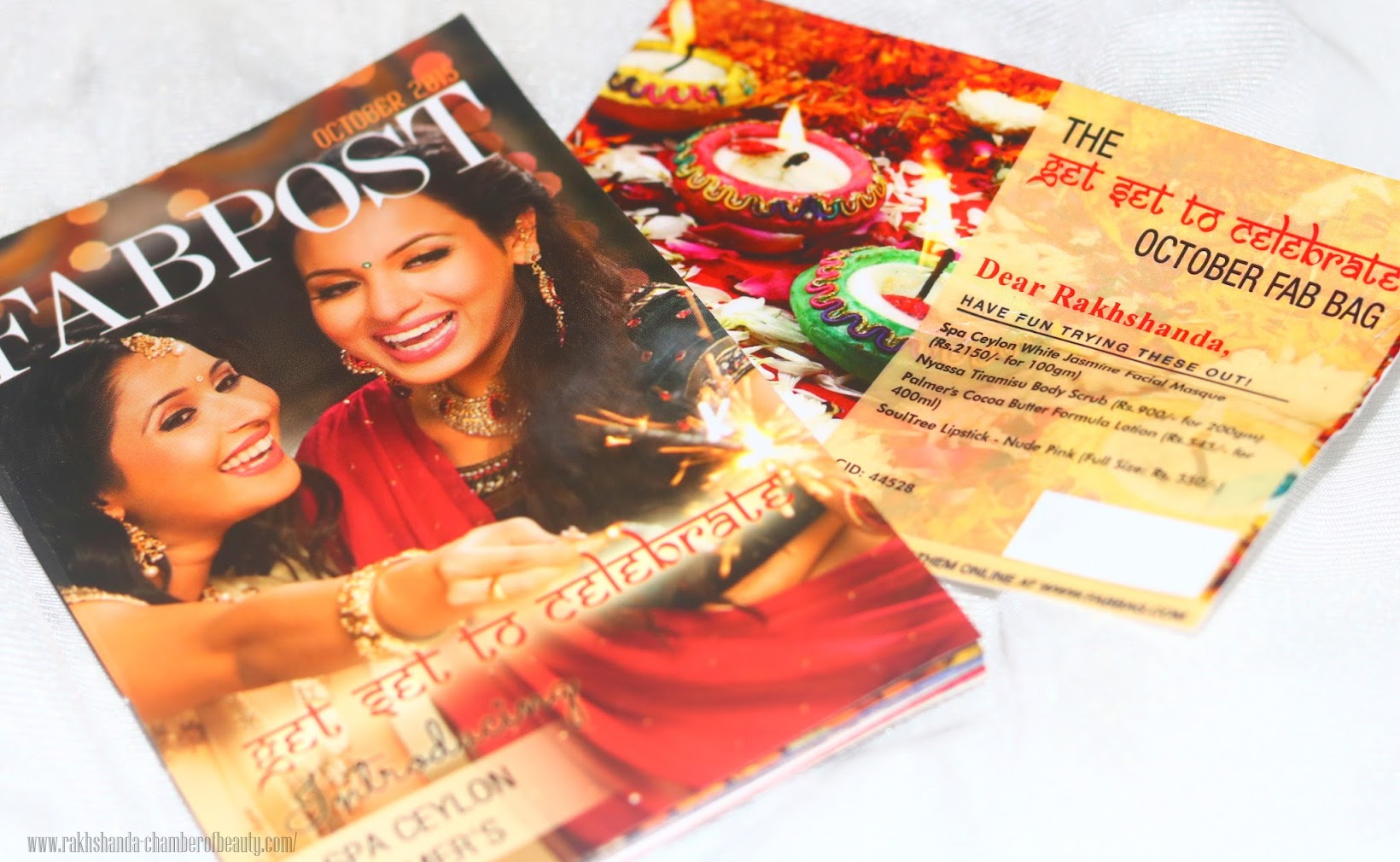 Fab Bag October 2015 review, swatches & photos, Indian beauty blogger, Chamber of Beauty