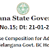 Caste wise Composition for admission into Govt BC Hostels in Telangana