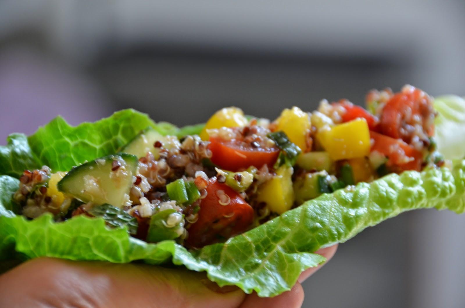 Quinoa Tabbouleh - Taco Style
