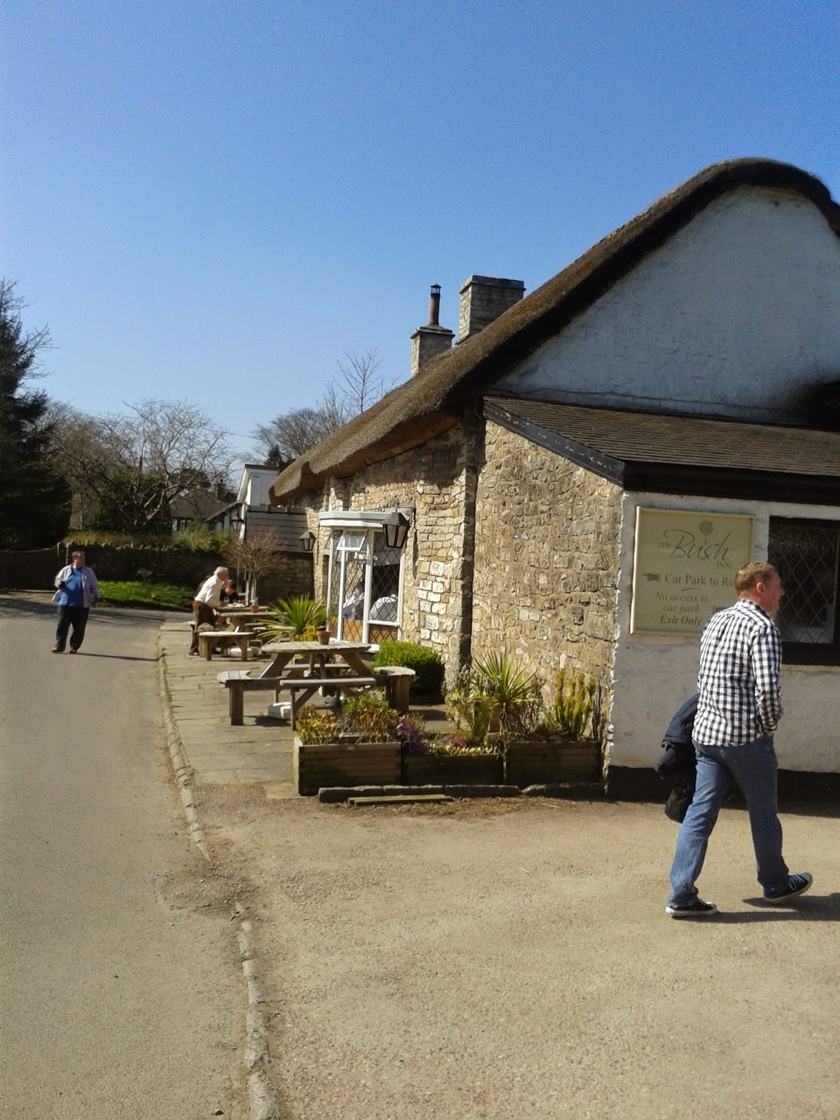 Outside the Bush Inn, St. Hilary