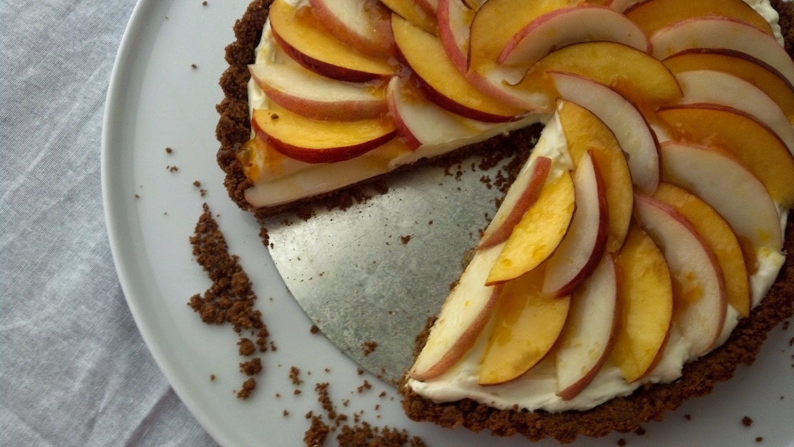 ... ™: Stone Fruit and Mascarpone Tart with Triple Ginger Cookie Crust