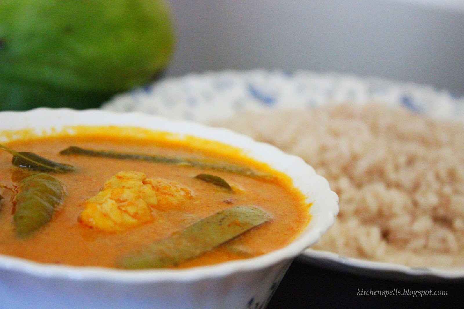 Prawns/Chemmeen Curry with raw mango