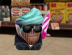 Danny Trejo as a cupcake