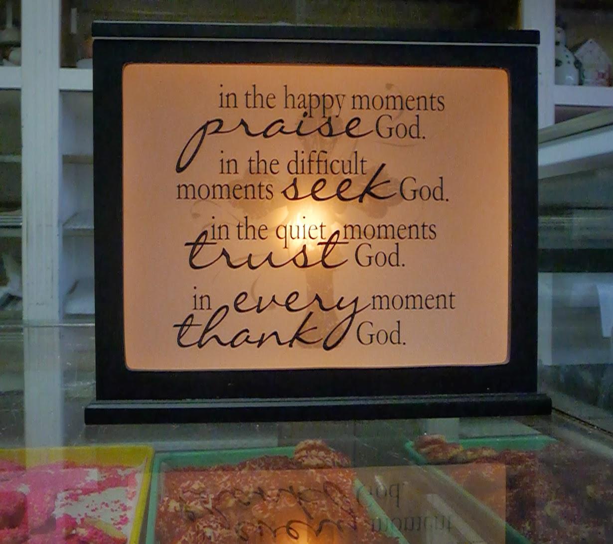 Sign on counter at Kuppie's Bakery, Villa Park, IL