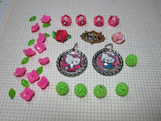 Colorful Hello Kitty Themed beads lot