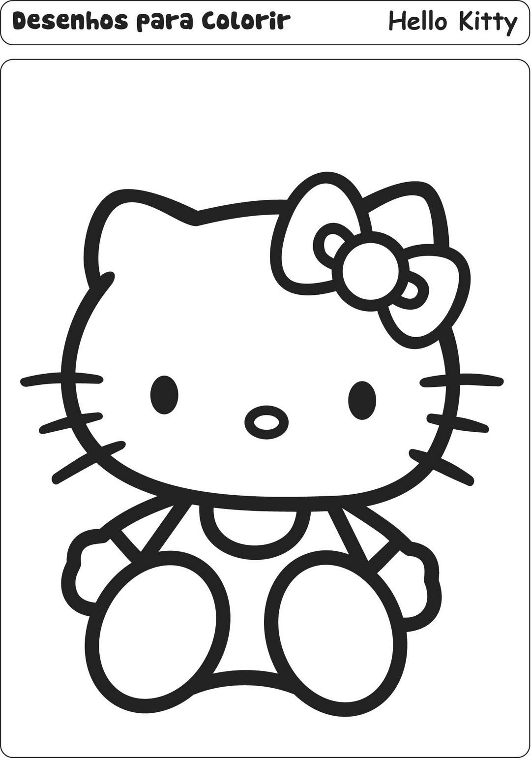 Desenho como desenhar princesa hello kitty pintar e colorir