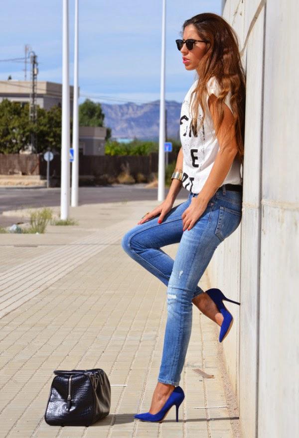 El Armario de Jessica u00bfCu00f3mo combinar zapatos azules?