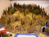 Completed mountain forest scenery