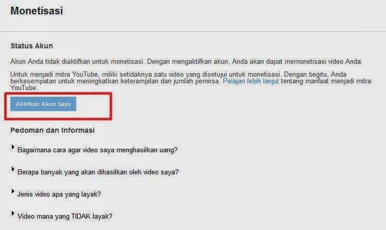Cara Mendaftar Google AdSense Full Approve Lewat YouTube
