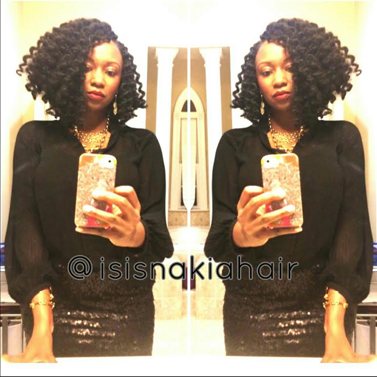 Isis Nakia Baltimore Natural Hair Stylist Crochet Braids In