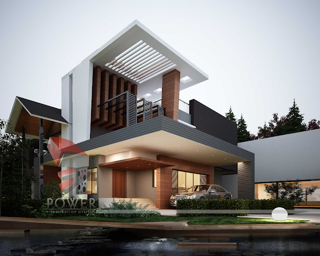 3d architectural visualization.ultra modern architecture house designs