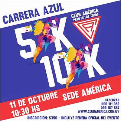 10k y 5k Carrera Azul del Club América de Paso de los Toros (TAC, 11/oct/2015)