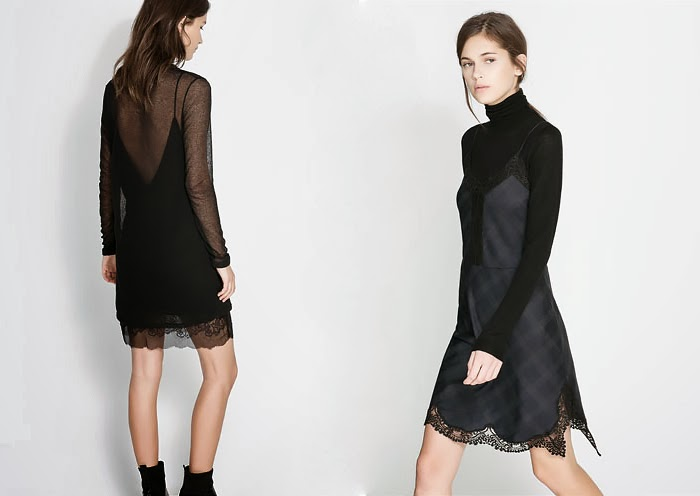 slip, lingerie dress, fall 2013, fashion trend, zara lookbook