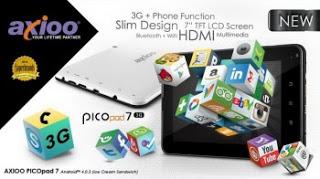 Spesifikasi Harga Axioo PicoPad 7, Tablet Android QuadCore 7 Inch Murah Terbaru