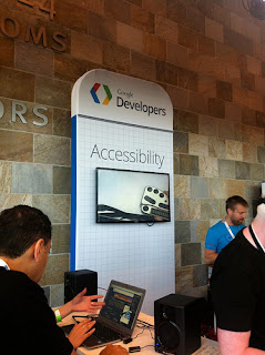 Photo of accessibility sandbox (booth) at Google IO 2012