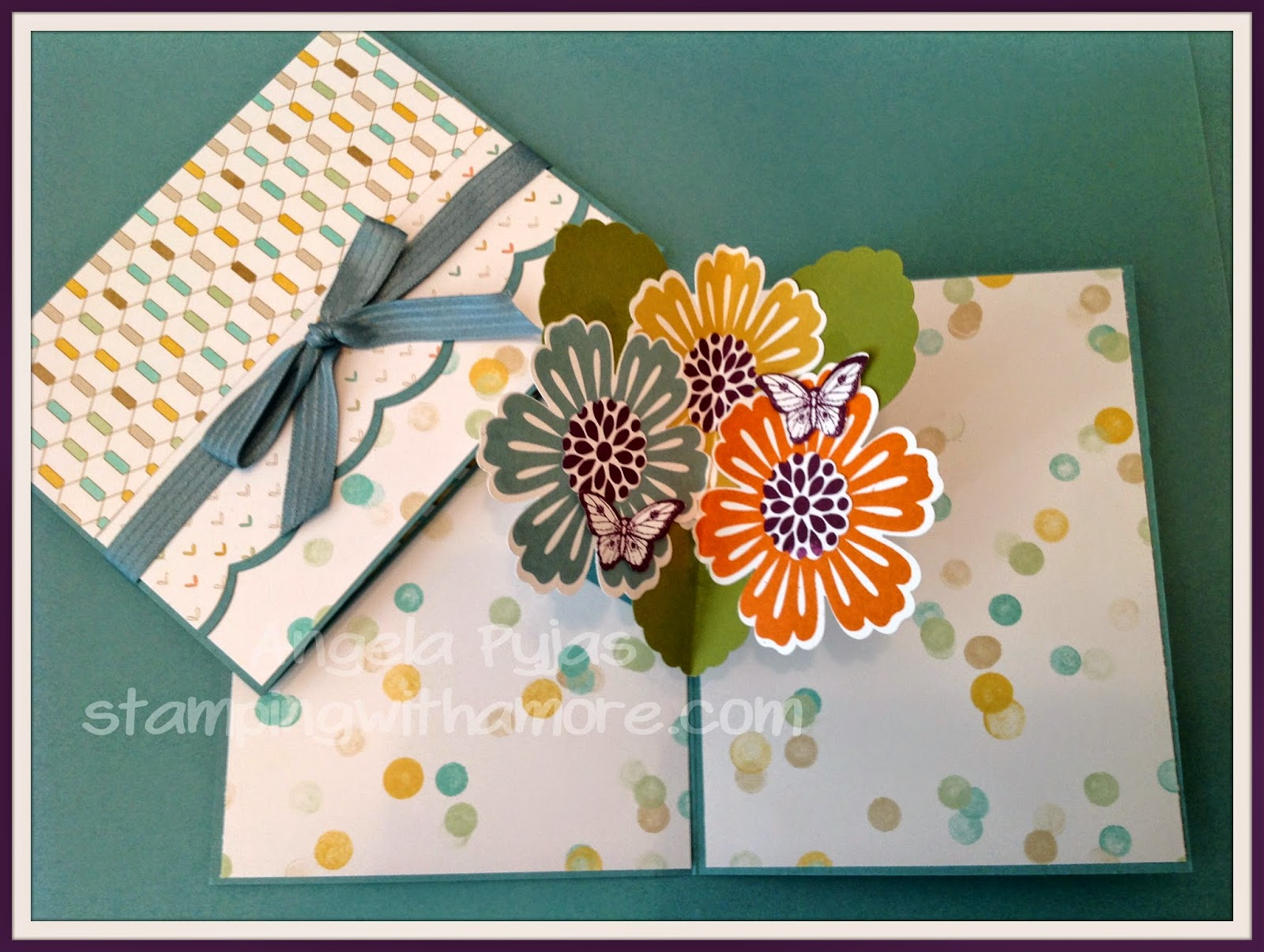 Stampingwithamore stampinup pop up flower card i usually dont do videos on wednesday but i wanted to actually show how to make it so here is the video i will also post the supply list for you kristyandbryce Choice Image