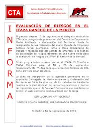 EVALUACIÓN DE RIESGOS EN EL IFAPA RANCHO DE LA MERCED