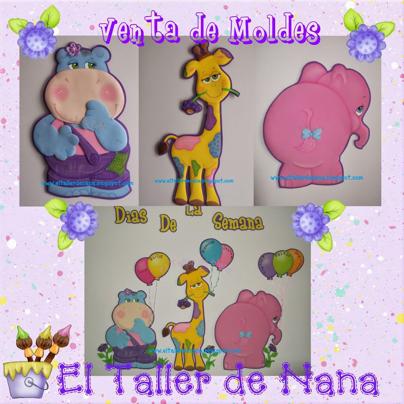 El Taller de Nana: Nuevos Moldes a la Venta