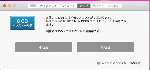 MacBook Proのメモリ交換完了