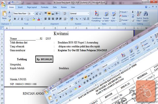 Contoh SK dan Kwitansi LPJ Kegiatan PPDB 2015/2016 Format Microsoft Excel