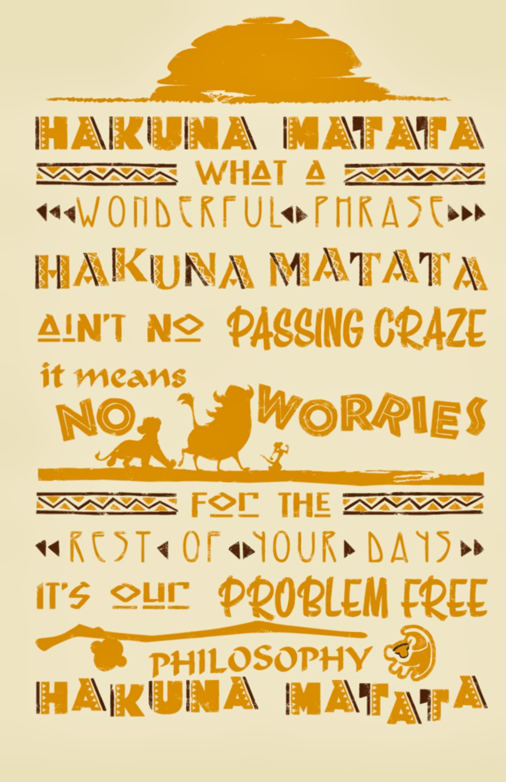 Katersbonneville lion king threadless shirt design - Signification hakuna matata ...