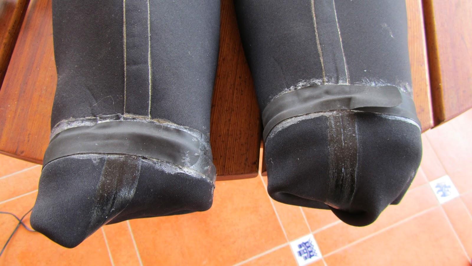 Javier Girón. Reparación trajes secos