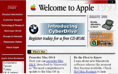 Inilah Tampilan Situs Populer 20 Tahun Yang Lalu - Apple