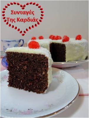 Σοκολατένιο κέικ με καρύδα
