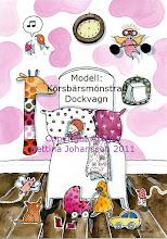 KÖRSBÄRSMÖNSTRAD DOCKVAGN