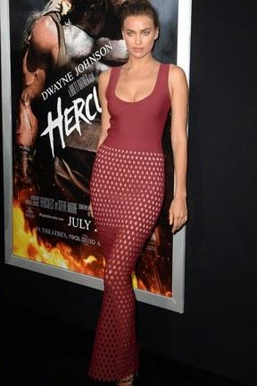 A modelo que está no elenco de Hercules, esteve na première do filme