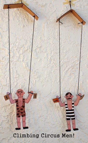DIY Toys:  Make Climbing Circus Men Toys!