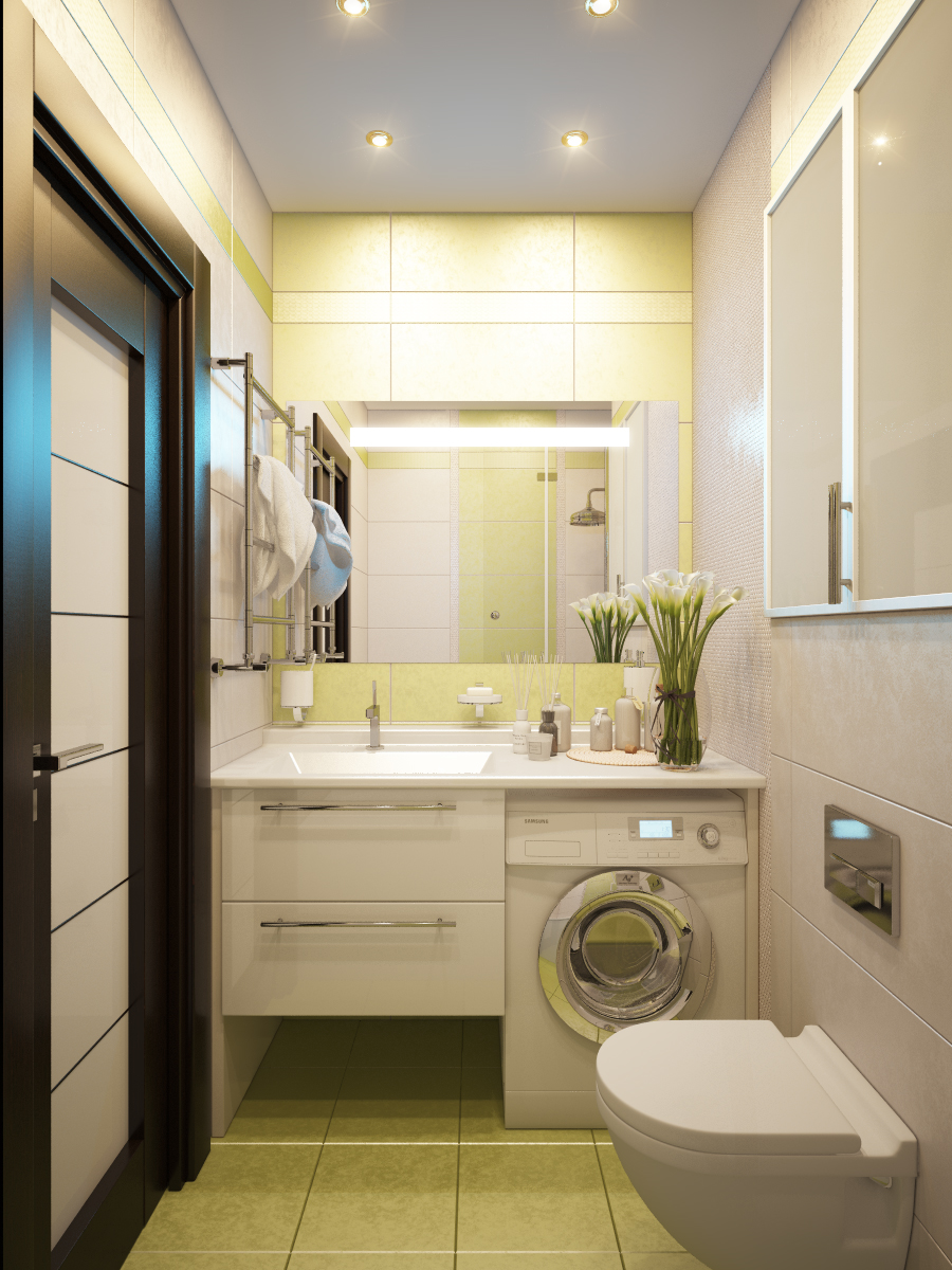 Дизайн совмещенного санузла в панельном доме