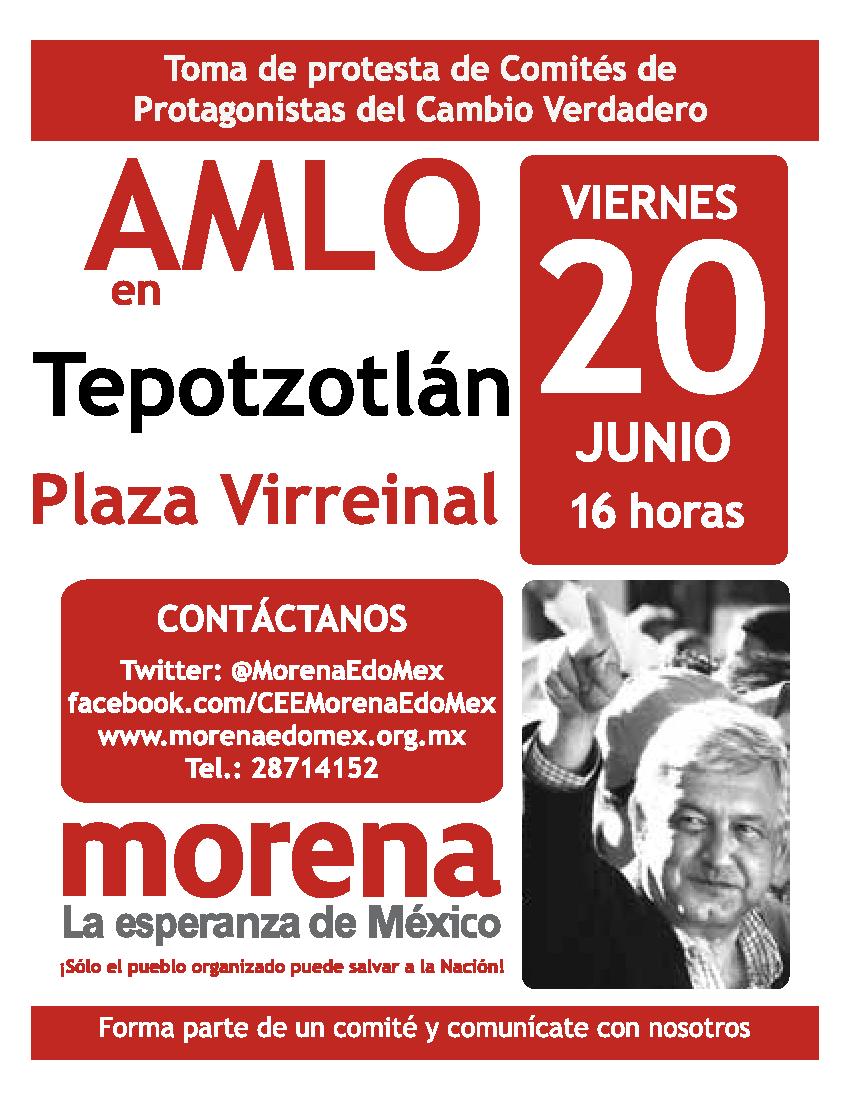 AMLO en Tepotzotlán
