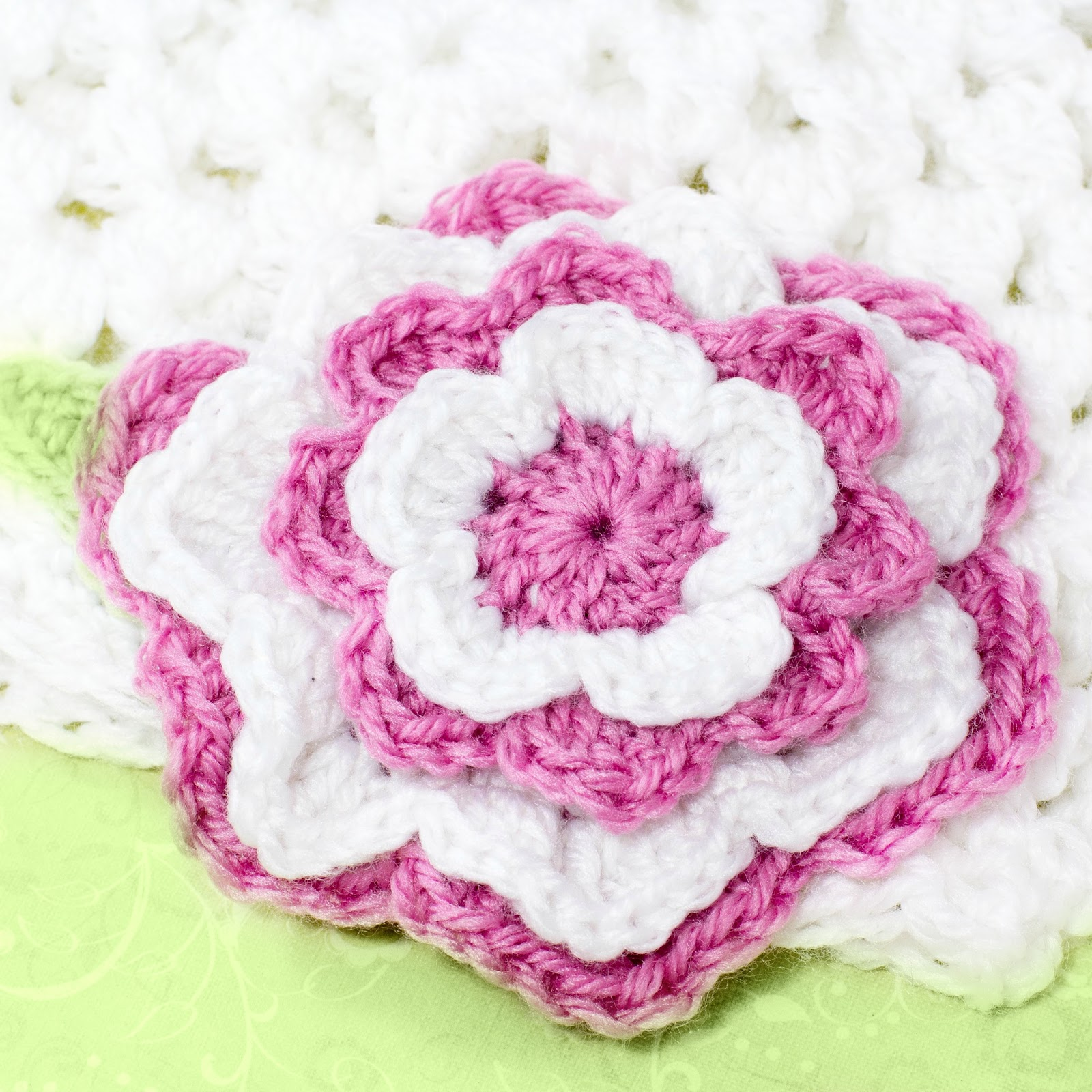 Free crochet pattern layered flower manet for hopeful honey craft crochet create tickled pink free crochet pattern layered flower bankloansurffo Images