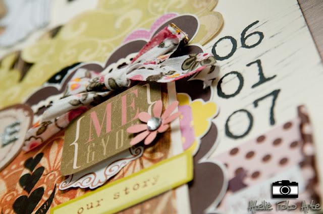Scrap duplo convite de casamento