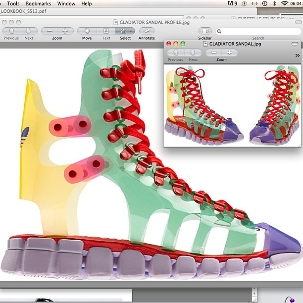 Jeremy Scott, Adidas, scarpe, ali