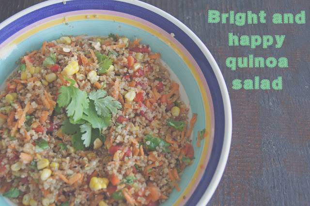 DSC06364 edited 1 - Bright & Happy Quinoa Salad
