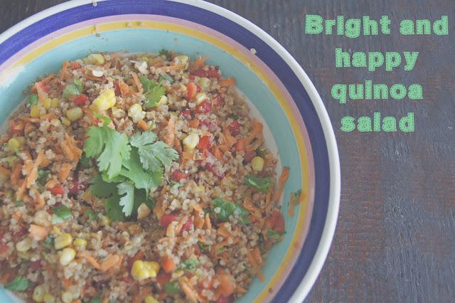 DSC06364 edited 1 - Bright & happy quinoa salad