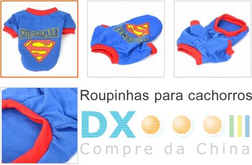 roupa para cachorro superman