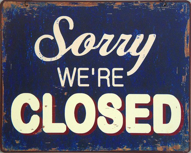 Jednak kryzys czyli zamykanie kolejnych sklepów