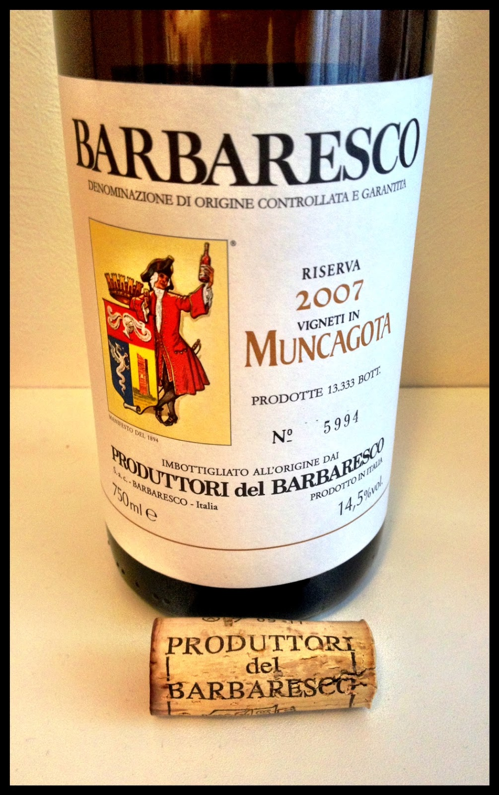 Tasting note on the 2007 Produttori del Barbaresco Muncagota Riserva