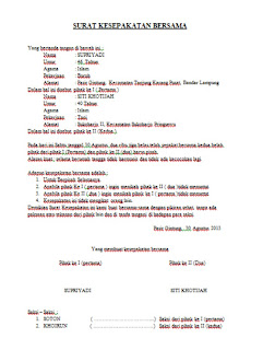 Contoh Surat Kesepakatan Cerai Surat Cerai Puci A Blog