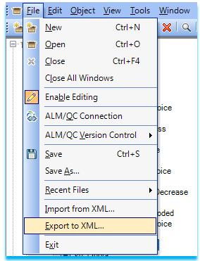 Export to XML
