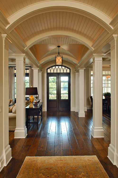 Things we love barrel ceilings design chic design chic for Barrel ceiling ideas