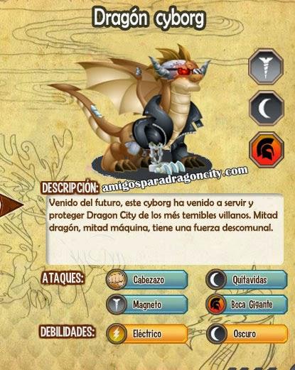 imagen de las caracteristicas del dragon cyborg