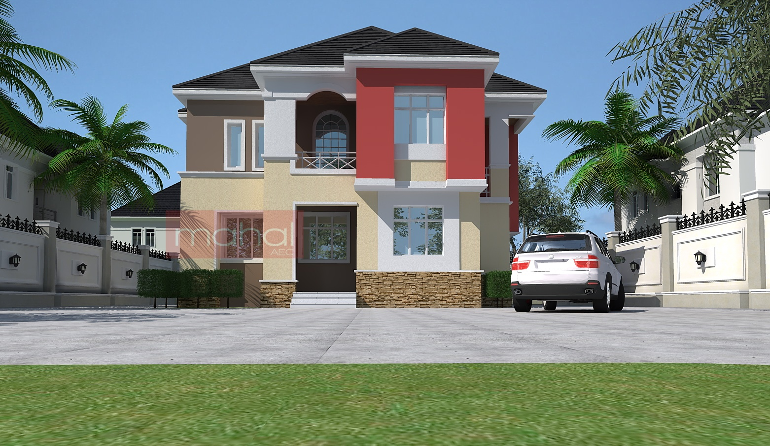 Contemporary nigerian residential architecture nwoko for 4 bedroom maisonette house plans kenya